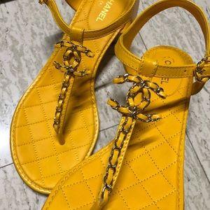 Authentic Chanel Chain CC Sandals